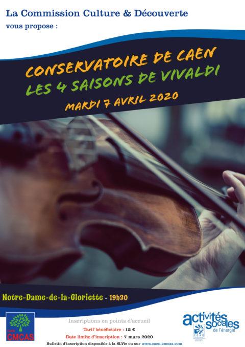 ANNULE : Concert : Les 4 saisons de Vivaldi