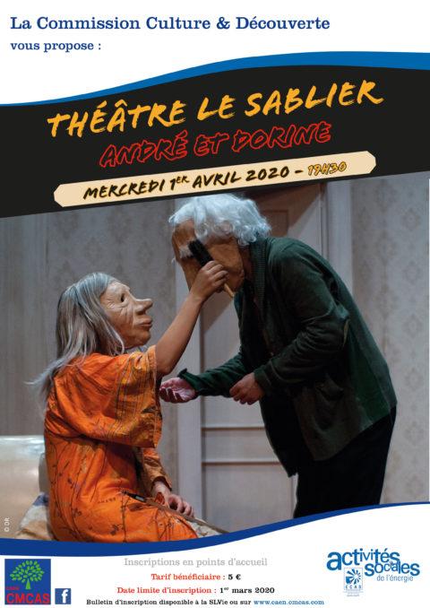 ANNULE : Théâtre le Sablier :  André et Dorine