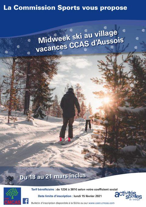 Midweek ski au village vacances CCAS d'Aussois #Annulé